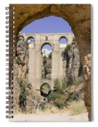 The Tajo De Ronda And Puente Nuevo Bridge Andalucia Spain Europe Spiral Notebook