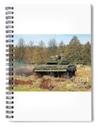 The Tank T-72 In Movement Spiral Notebook