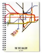 The Tate Gallery - National Galleries And Museums - London Underground - Retro Travel Poster Spiral Notebook