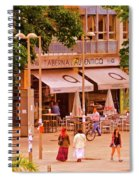 The Tavern On The Plaza - Spain Spiral Notebook