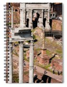 The Temple Of Castor And Pollux At The Forum From The Palatine Spiral Notebook