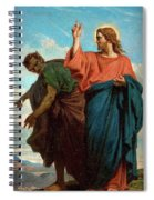 The Temptation Of Christ By The Devil Spiral Notebook