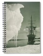 The Terra Nova At The Ice Foot Cape Evans Spiral Notebook