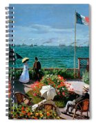 The Terrace At Sainte Adresse Spiral Notebook
