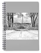 The Terrace In Black And White Spiral Notebook