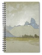 The Tetons, Idaho, 1879 Spiral Notebook