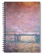 The Thames At Charing Cross Spiral Notebook