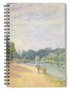 The Thames With Hampton Church Spiral Notebook