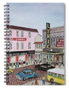 The Theater District Portsmouth Ohio 1948 Spiral Notebook