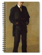 The Thinker, Portrait Of Louis Kenton Spiral Notebook