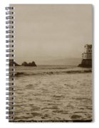 The  Third Cliff House And Seal Rocks From Pier, San Francisco,  Circa 1895 Spiral Notebook