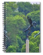 The Three Angels Spiral Notebook