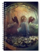 The Three Flowers Spiral Notebook