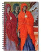 The Three Marys At The Tomb Fragment 1311 Spiral Notebook