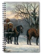 The Timber Wagon In Winter Spiral Notebook