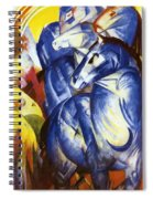 The Tower Of Blue Horses 1913 Spiral Notebook