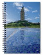The Tower Of Hercules And The Rose Of The Winds Spiral Notebook