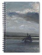 The Traeth Mawr, Moonlight Spiral Notebook