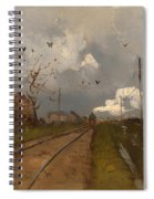 The Train Is Arriving Spiral Notebook