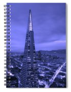 The Transamerica Pyramid At Sunset Spiral Notebook