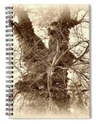 The Tree - Sepia Spiral Notebook