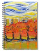 The Trees In Red. Day_march, 28  2015, Nizhny Novgorod, Russia_ Spiral Notebook