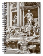 The Trevi Fountain In Sepia Tones Spiral Notebook