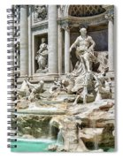 The Trevi Fountain In The City Of Rome Spiral Notebook