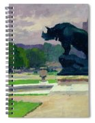 The Trocadero Gardens And The Rhinoceros Spiral Notebook