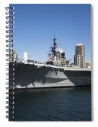 The U S S Midway Docked In San Diego Spiral Notebook