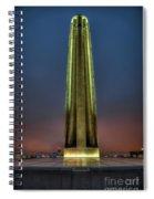 The Ultimate Sacrifice Liberty Memorial Kansas City Missouri Art Spiral Notebook