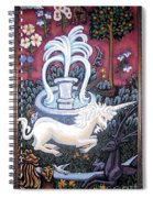 The Unicorn And Garden Spiral Notebook
