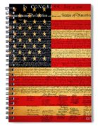 The United States Declaration Of Independence - American Flag - Square Spiral Notebook