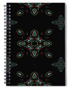 The Universe Display At Night Abstract Spiral Notebook