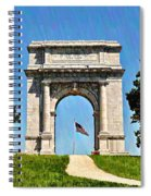 The Valley Forge Arch Spiral Notebook