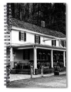 The Valley Green Inn In Black And White Spiral Notebook