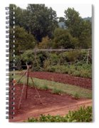 The Vegetable Garden At Monticello II Spiral Notebook