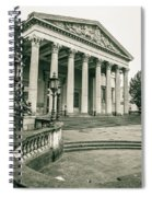 The Victoria Rooms With Lamp Post, Bristol Spiral Notebook