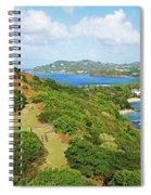 The View From Fort Rodney On Pigeon Island Gros Islet Blue Water Spiral Notebook