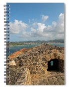The View From Fort Rodney On Pigeon Island Gros Islet Caribbean Spiral Notebook