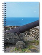 The View From Fort Rodney On Pigeon Island Gros Islet Saint Lucia Cannon Spiral Notebook