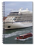 The Viking Star Cruise Liner In Venice Italy Spiral Notebook