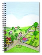 The Village - Colonial Style Art Spiral Notebook