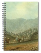 The Village Of Betania With A View Of The Dead Sea Spiral Notebook
