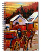 The Village Of Saint Jerome Spiral Notebook