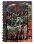 The Village On A Hill Spiral Notebook