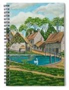 The Village Pond In Wroxton Spiral Notebook