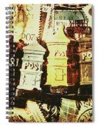 The Vintage Postage Card Spiral Notebook