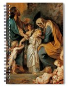 The Virgin Adorned With Flowers Spiral Notebook