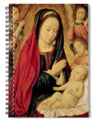 The Virgin And Child Adored By Angels  Spiral Notebook